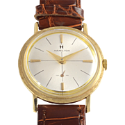 American 14K Gold Dress Style Wrist Watch by Hamilton