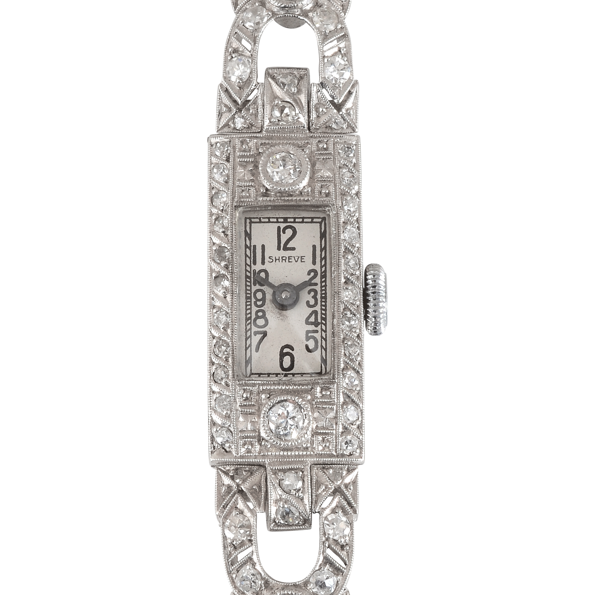 Art Deco Diamond Wrist Watch by Shreve & Co.