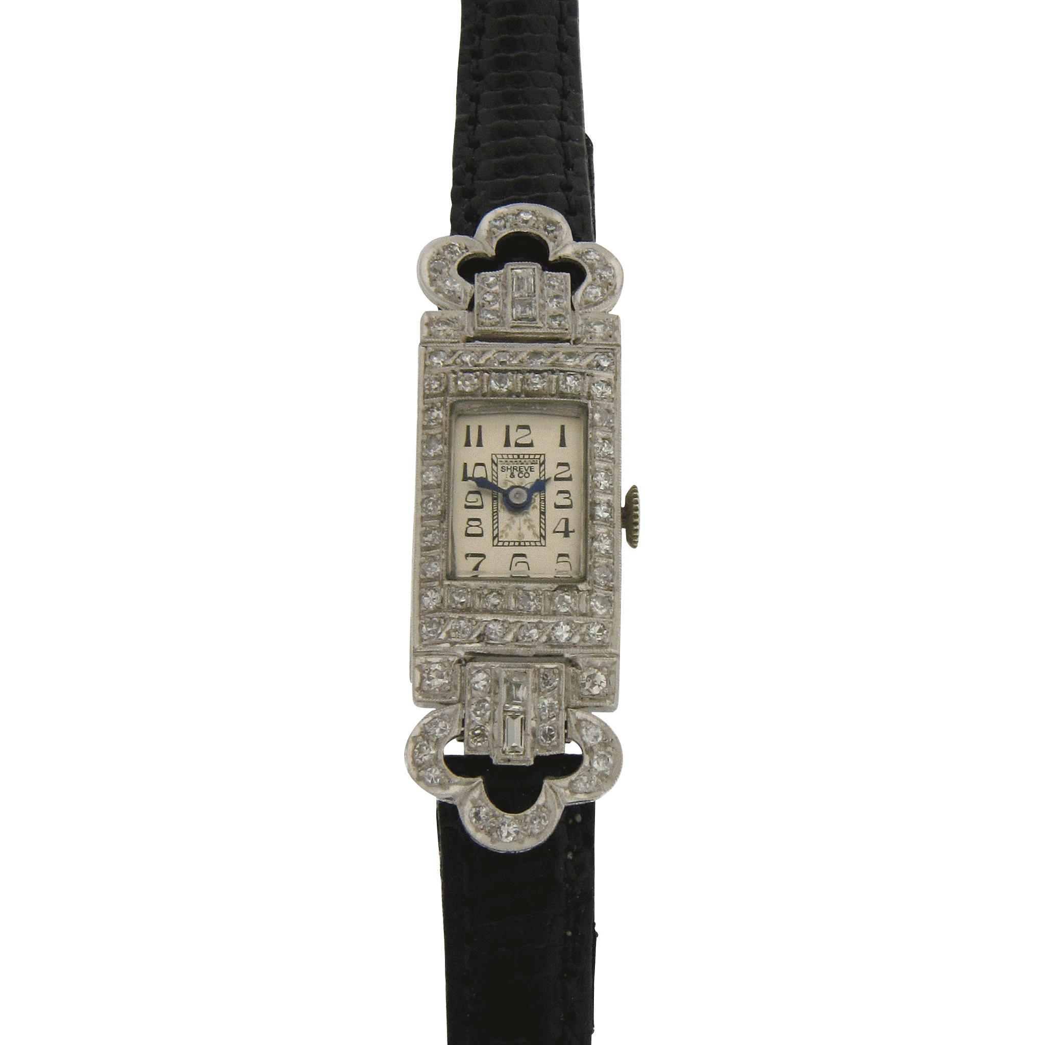 Art Deco Ladies Wrist Watch by Shreve & Co. in Platinum