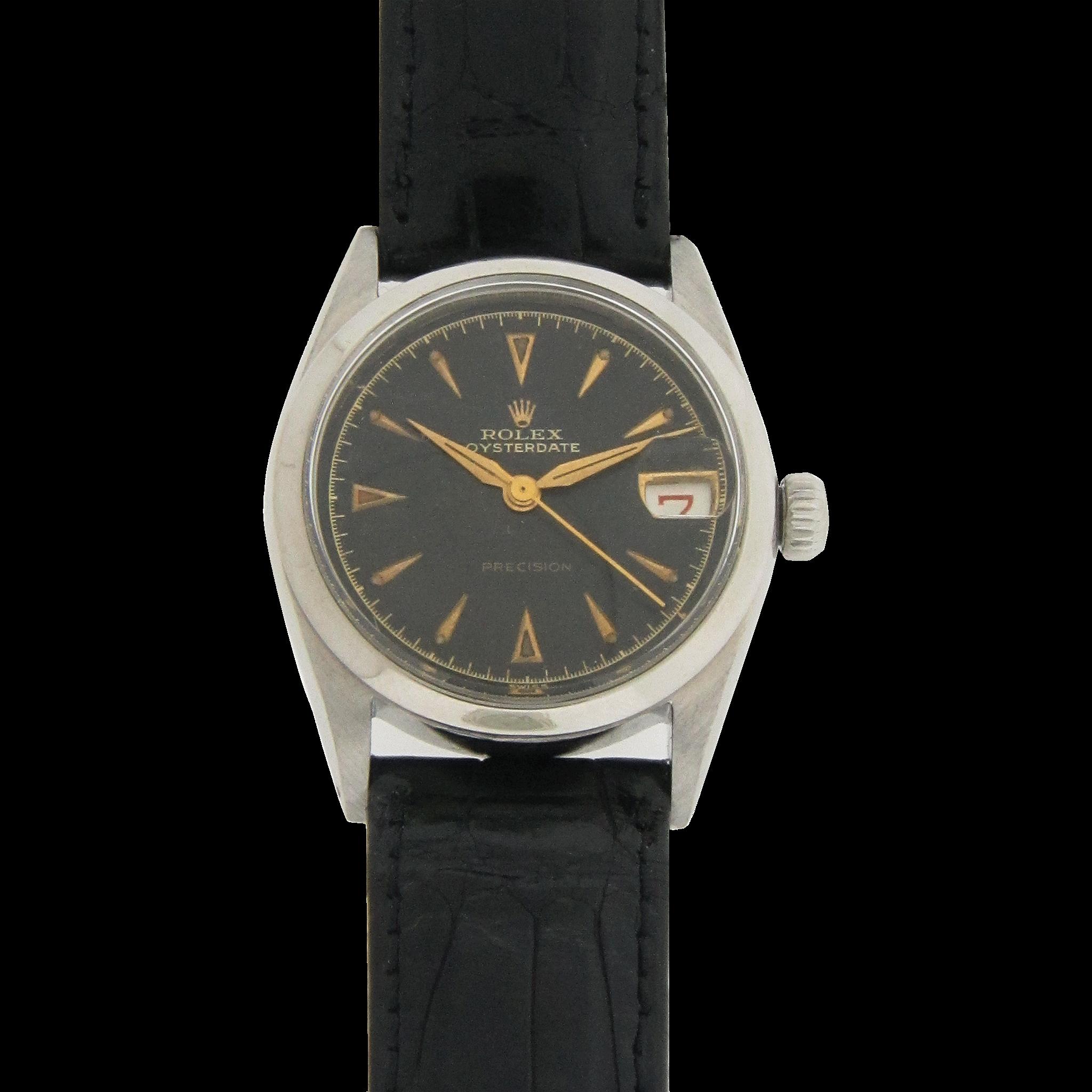 Mens Wrist Watch 3/4 Size Rolex Oyster
