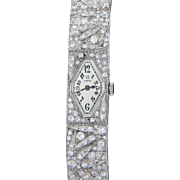 Swiss Ladies Omega Dress Wrist Watch with 135 Diamonds