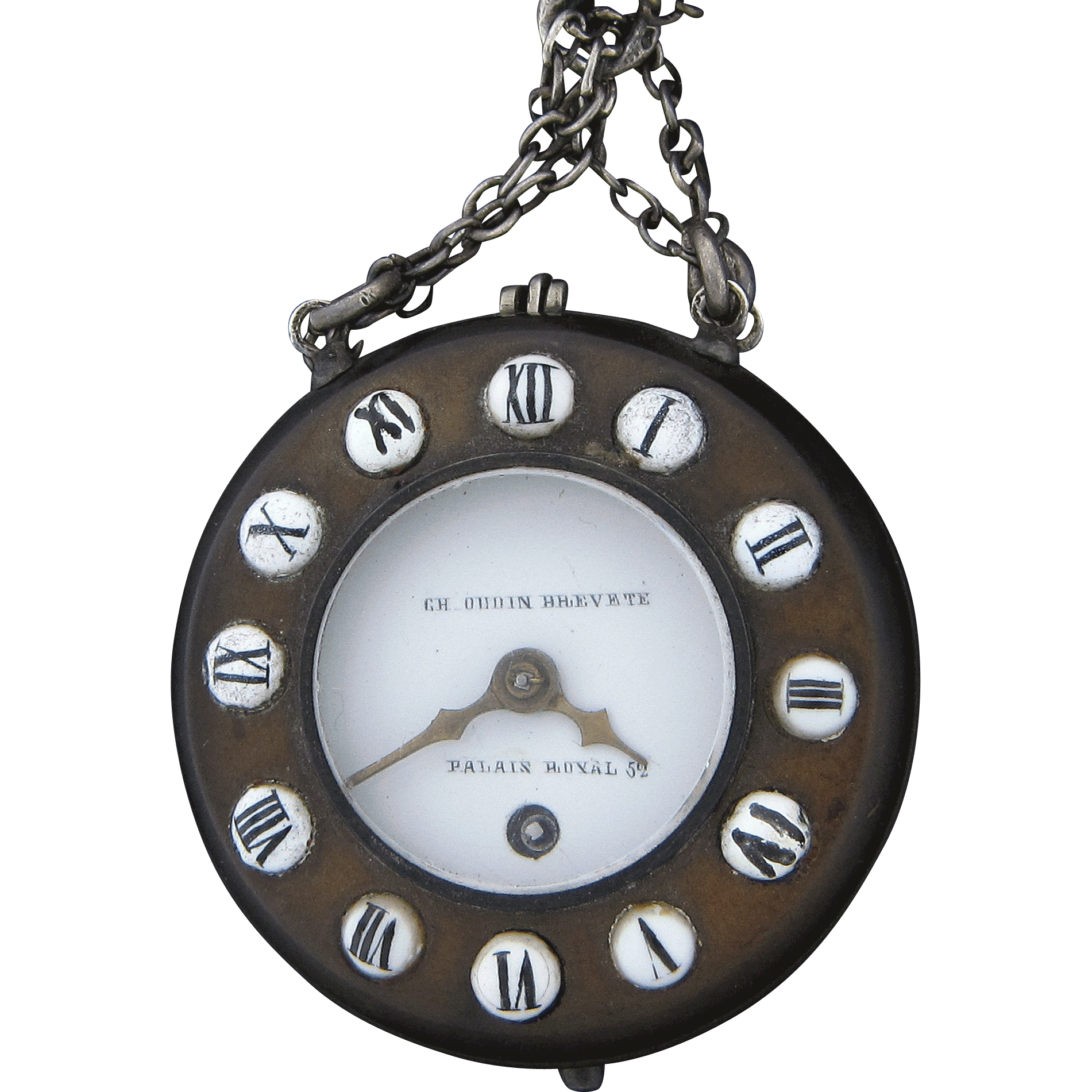 French Chatelaine Type Pocket Watch by Charles Oudin
