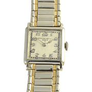 Rare All Original Swiss Mens 18K Gold Wrist Watch by Patek Philippe Circa 1927