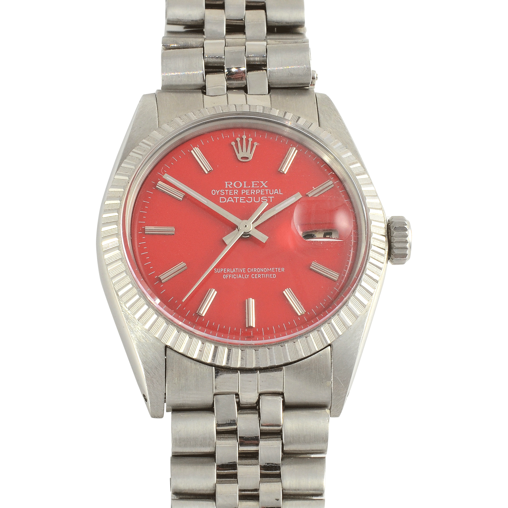 Swiss Mens Stainless Steel Rolex Oyster Perpetual Wristwatch
