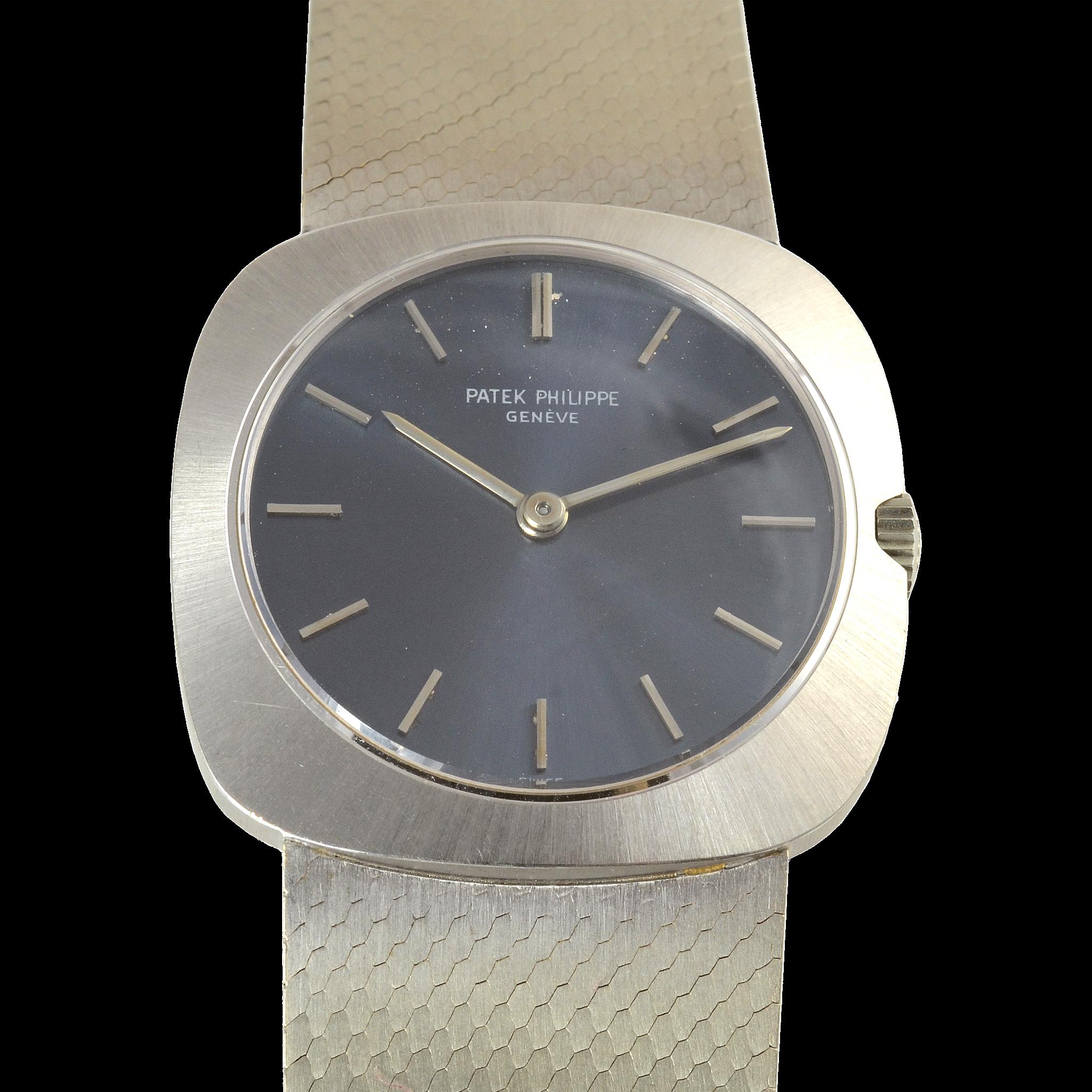 Swiss Mens 18K White Gold Wrist Watch by Patek Philippe