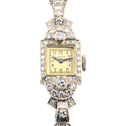 American Platinum Diamond Ladies Wrist Watch by Hamilton