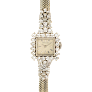 Movado 2.50 CTW Diamond Platinum Ladies Wrist Watch
