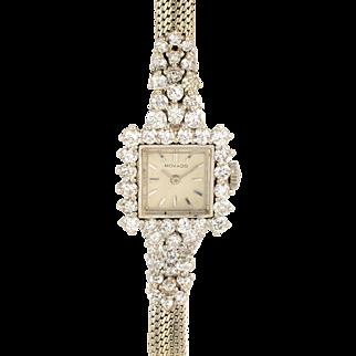 Movado 2.50 CTW Diamond Platinum Ladies Wrist Watch