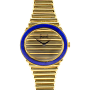 Piaget 18K Gold and Lapis Ladies Wrist Watch