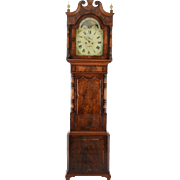 English Mahogany Tall Case Clock Signed Langley Birkenhead