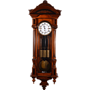 German Grande Sonnerie Walnut Vienna Regulator