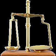 English Brass Balance Beam Scale