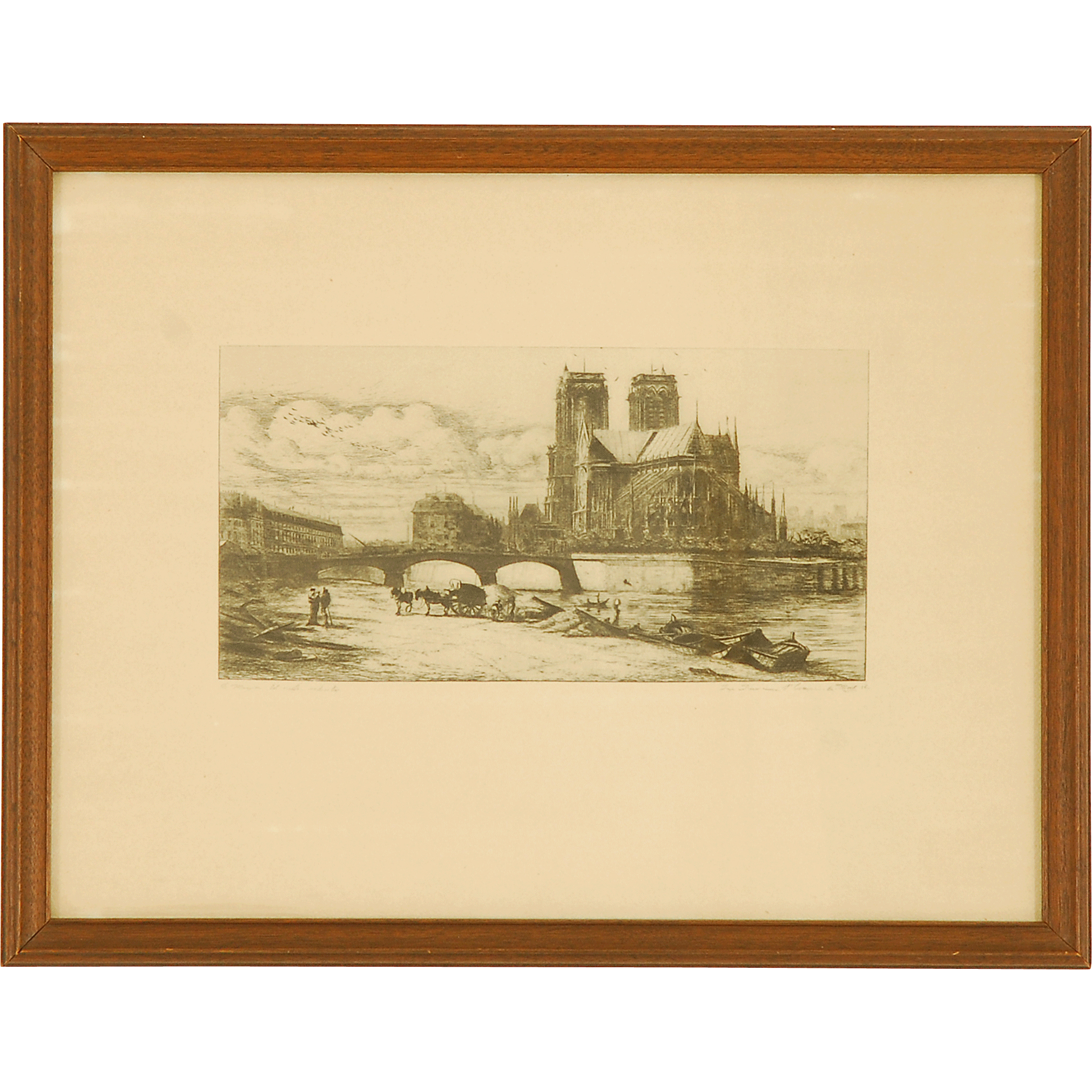 Engraving Of Notre Dame Signed By Charles Meryon