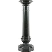 Antico Style Verde Marble Pedestal
