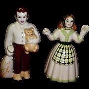 """Ceramic Arts Studio Figurines """"Pioneer Couple Sam & Susie"""""""