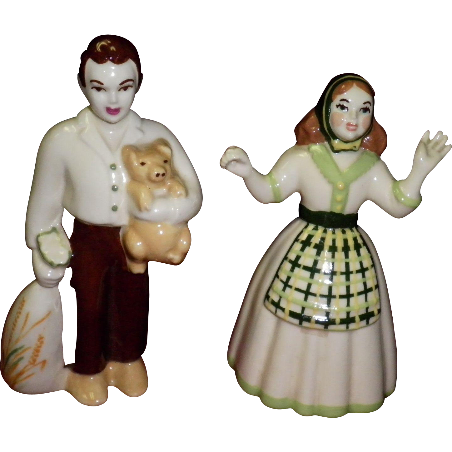 "Ceramic Arts Studio Figurines ""Pioneer Couple Sam & Susie"""