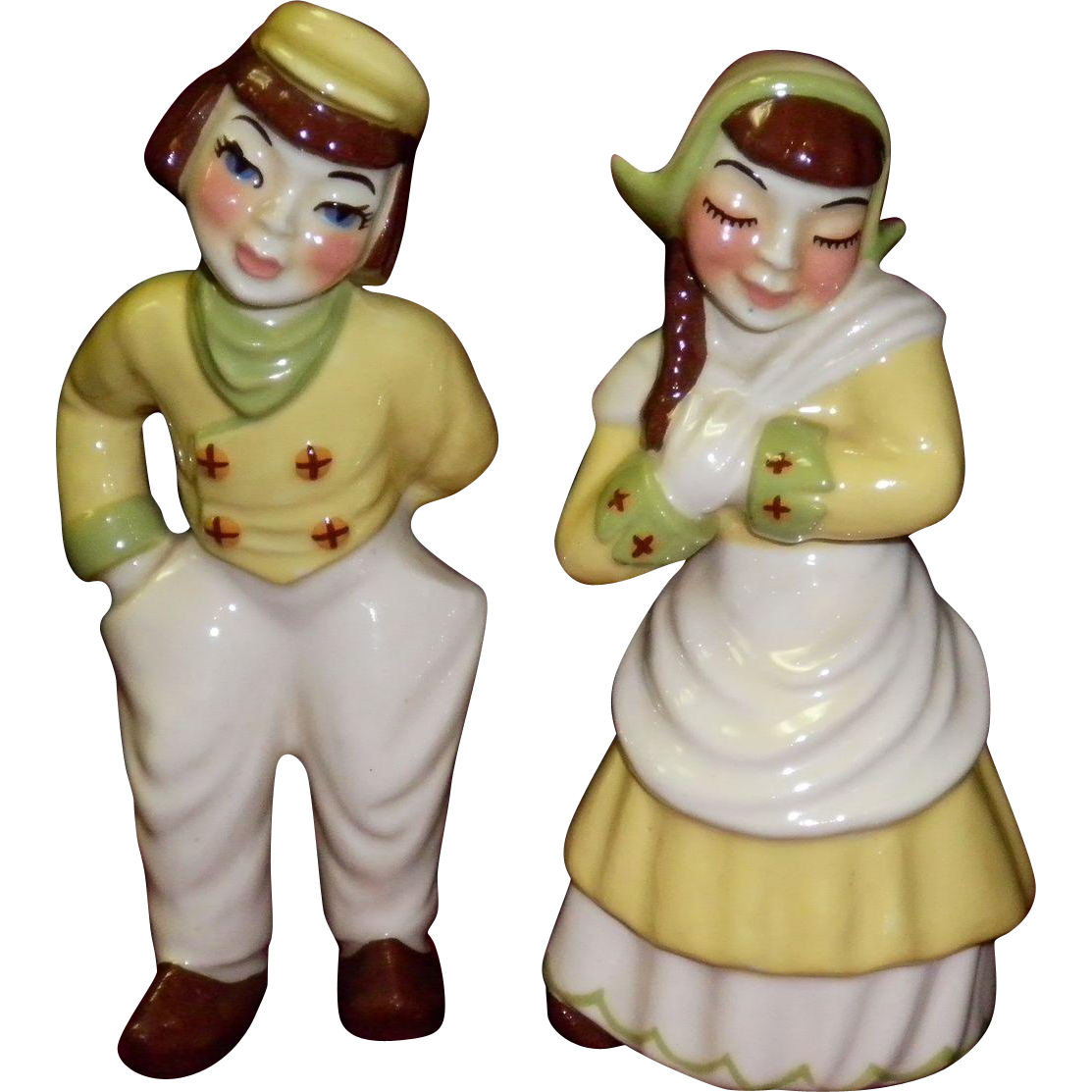 "Ceramic Arts Studio The Chubby Dutch Couple ""Katrinka & Hans"""