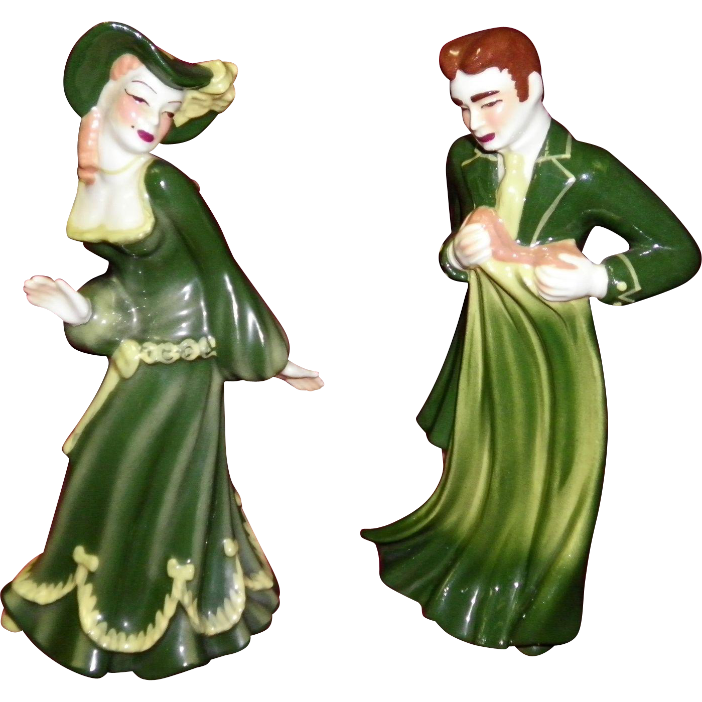 Very Rare Ceramic Arts Studio Promenade Man & Lady Couple