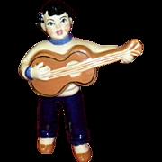 "Ceramic Art Studio Figurine ""Guitar Boy"""