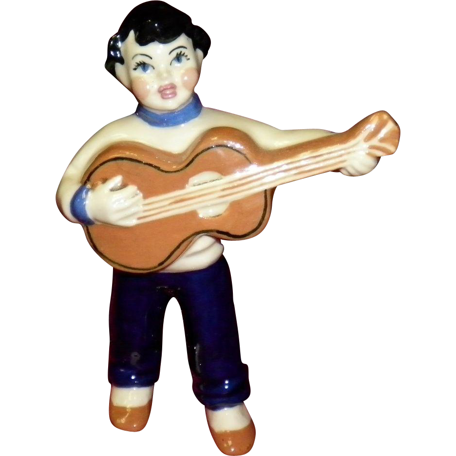 "Ceramic Art Studio Figurine ""Guitar Boy"""