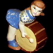 """Ceramic Art Studio Figurine """"Drum Girl"""""""