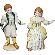 "Madison Ceramic Arts Studio Figurines ""Colonial Boy And Girl"""