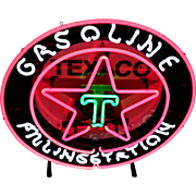 Texaco Gasoline Filling Station Sign
