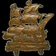 Cast Iron Ship Door Stop Titus Foundry