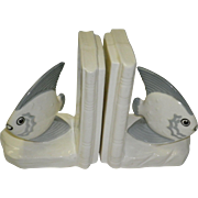 Czechoslovakia Porcelain Nautical Fish Bookends