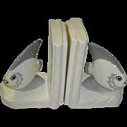 Czechoslovakia Porcelain Nautical Fish Bookends