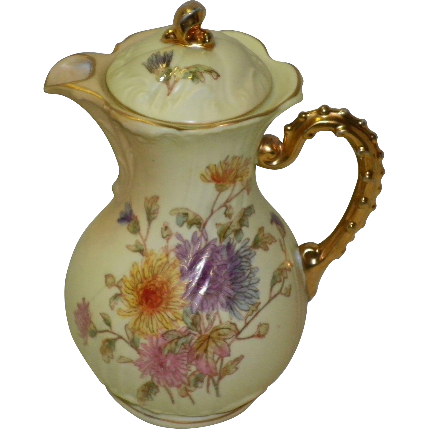 Hand Painted RW Rudolstadt Tea pot / Chocolate Pot