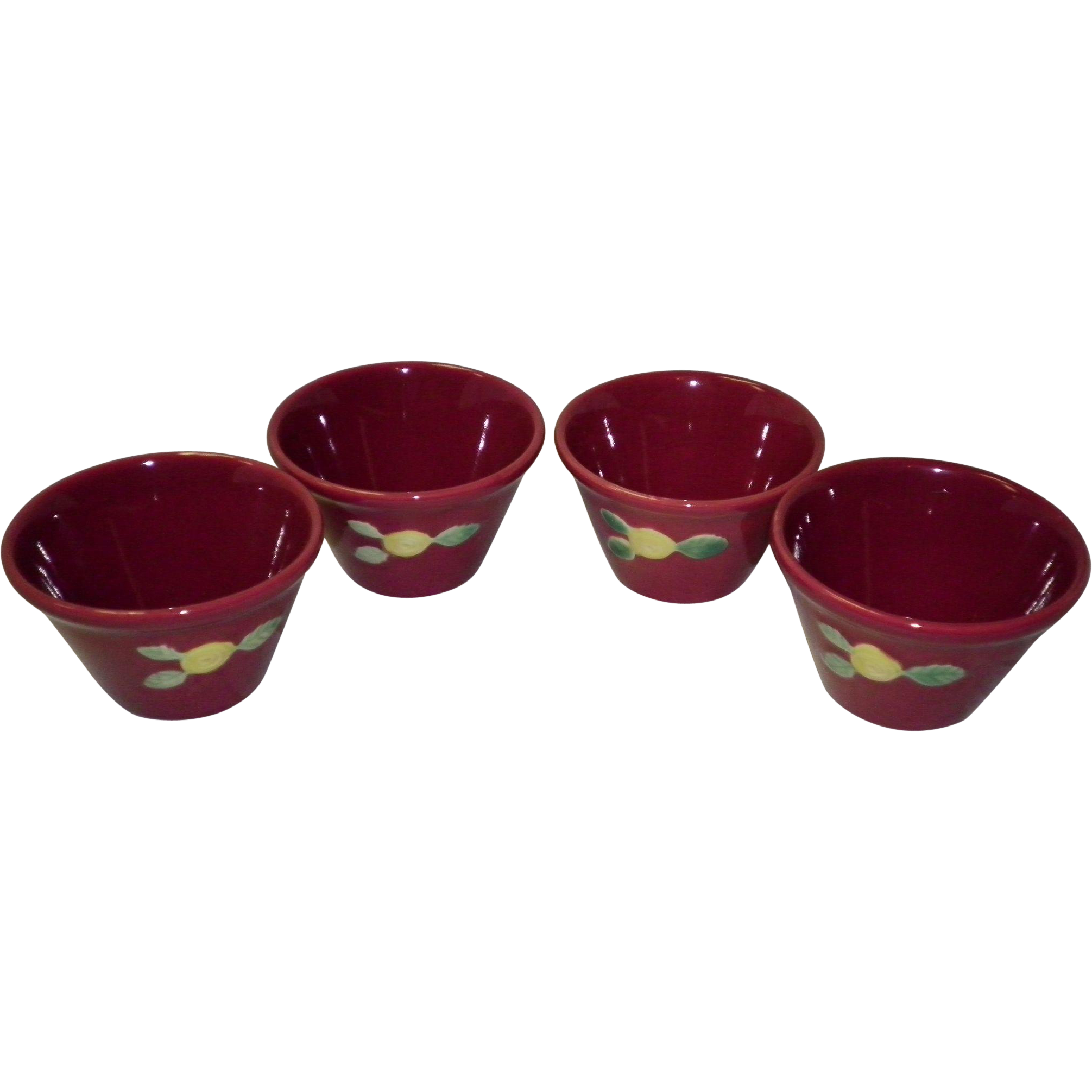 Set Of 4 Coors Pottery Custard Cups