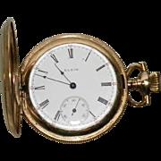 Antique 1908 Elgin Pocket Watch 6 size 7 Jewels Philadelphia Case