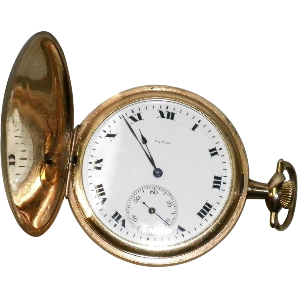 Vintage 1919 Elgin Pocket Watch 12 Size 15 Jewels Keystone Case