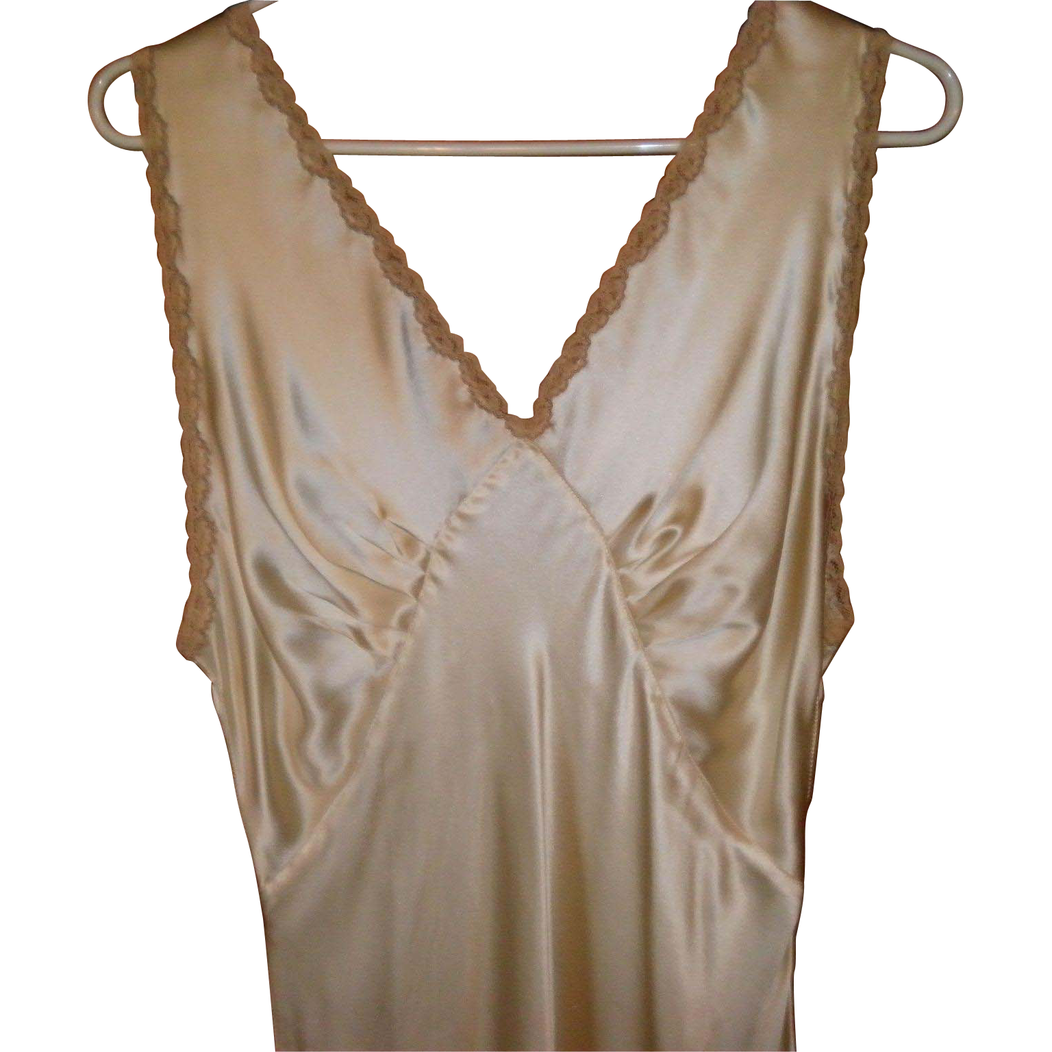 Vintage 1930's 1940's Floor Length Satiny Nightgown Size S