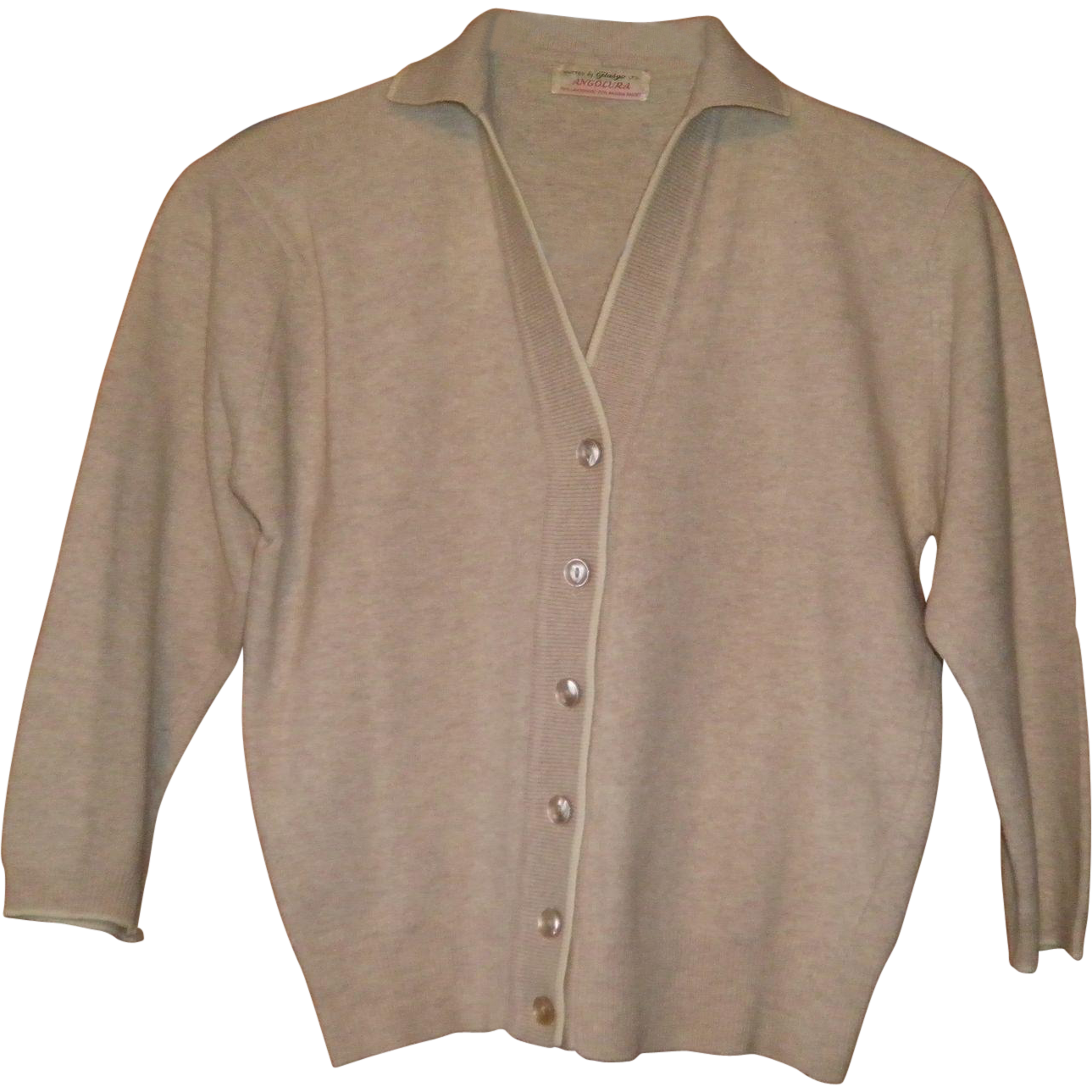 Vintage 1960's Lambswool / Angora Button Down Sweater Size XS S