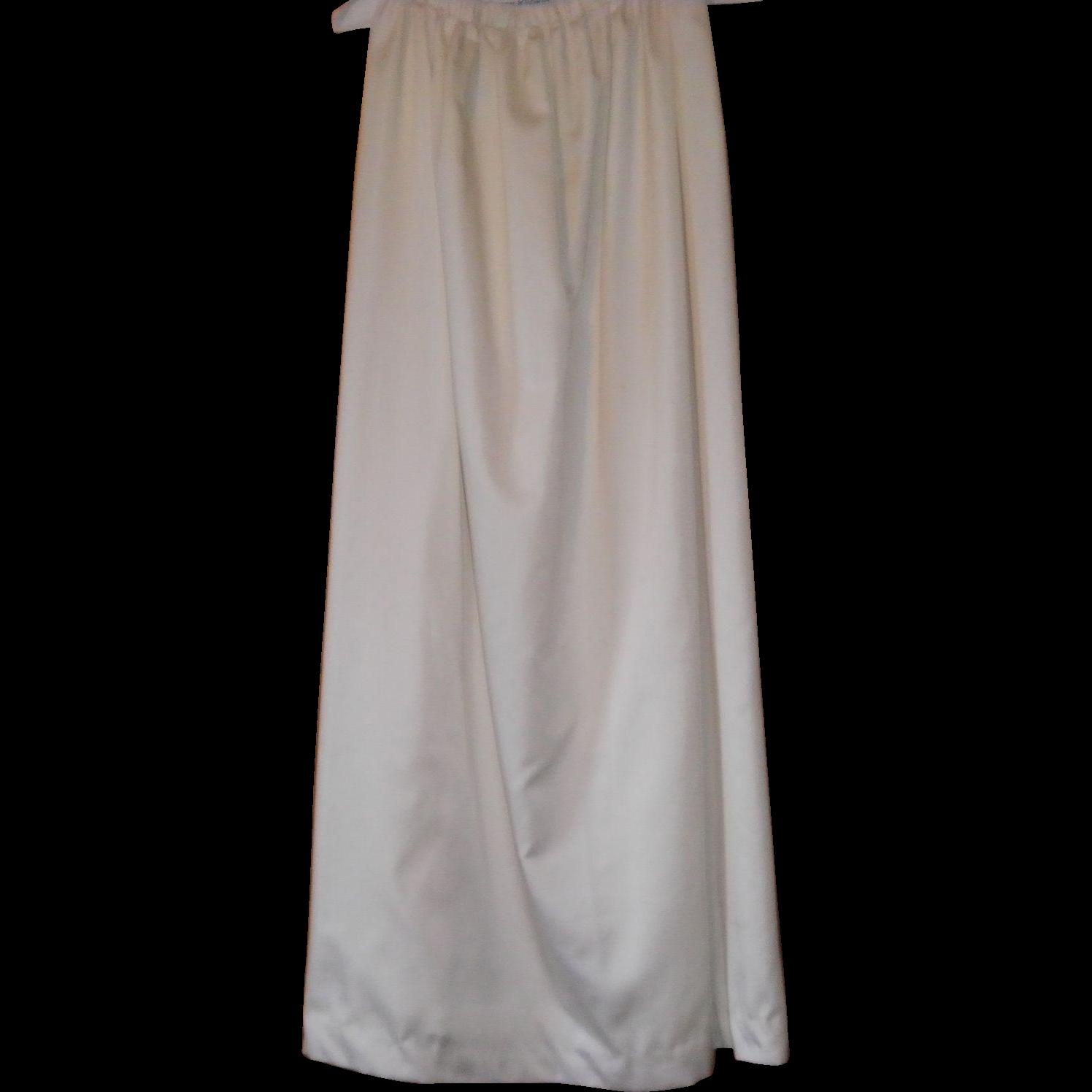 Vintage Satiny Skirt With Slit Size M