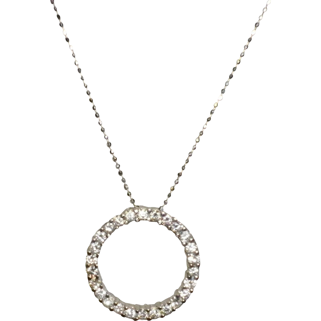 14Kt White Gold Diamond Circle Of Life Necklace
