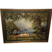 """Large Framed R. Atkinson Fox Print """"In The Valley Of Enchantment"""""""