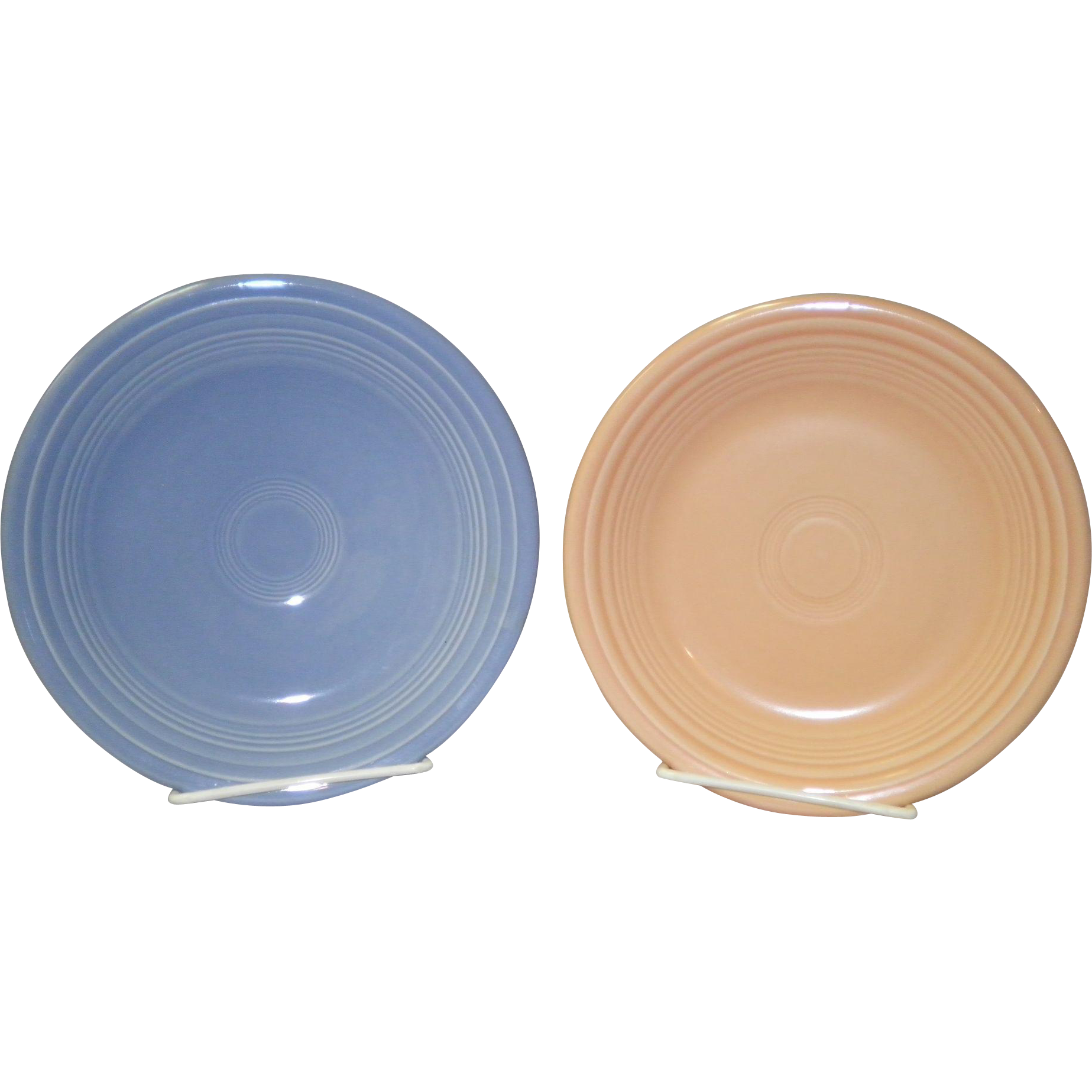 "Set Of 2 Fiesta 7 1/4"" Plates"