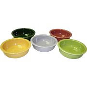 Set Of 5 Fiesta Fruit Bowls 4 3/4""