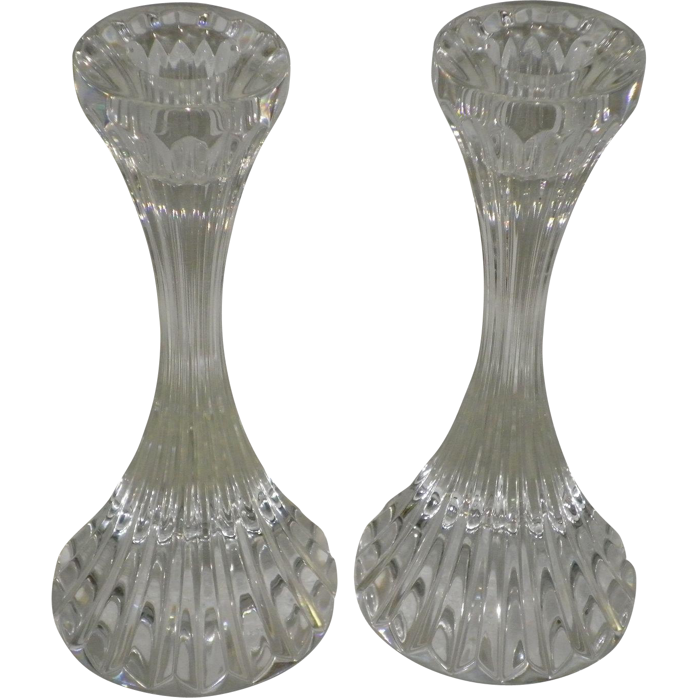 "Pair Of Baccarat Crystal Massena"" Single Light"" Candlestick Holders"