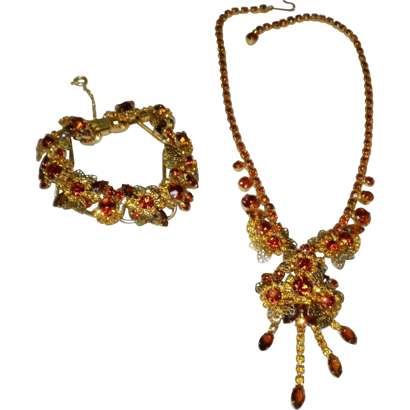 Vintage Juliana Necklace & Bracelet Set