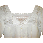 Victorian White Cotton Nightgown