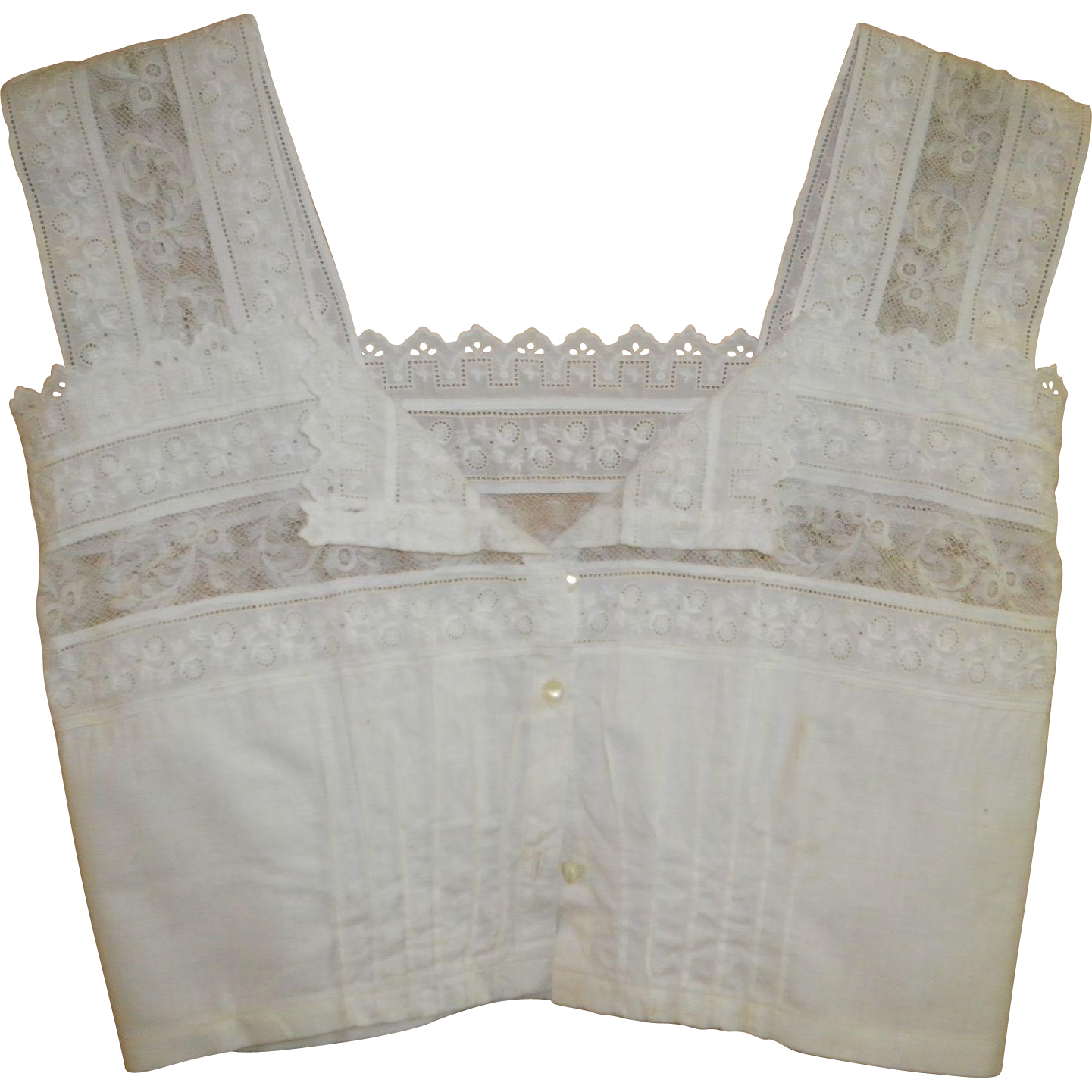 Victorian White Blouse / Crop Top XXS