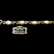 Vintage 10kt Gold Filled Cameo Bracelet