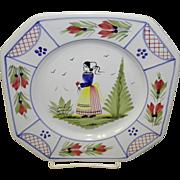 "7 3/4"" Henriot Quimper Salad Plate"