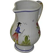 Henriot Quimper Pitcher