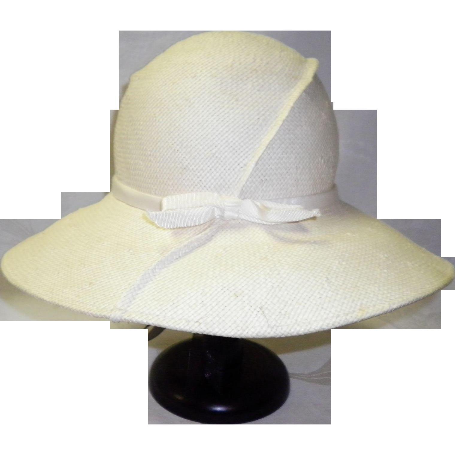 Vintage Frank Olive Straw Hat
