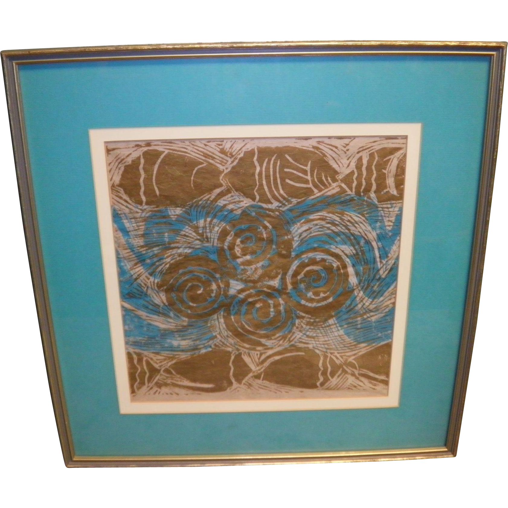 Delores White Matted and Framed Print